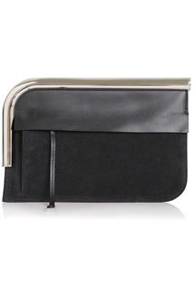 Кожаная сумка Curved Chrome Bar Clutch Proenza Schouler
