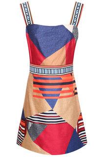 Платье из хлопка и шелка Jakarta Diane Von Furstenberg