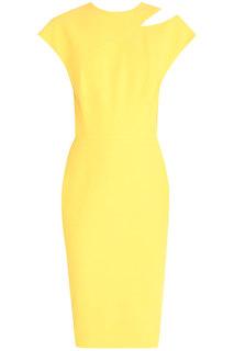 Платье из шелка и шерсти Victoria Beckham