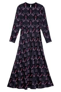 Платье с комбинированным принтом Valentino