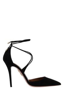 Черные замшевые туфли Matilde Aquazzura
