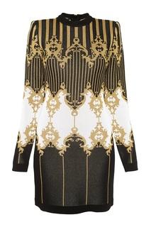 Платье с люрексом Balmain