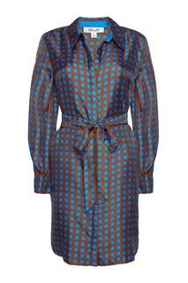 Шелковое платье-рубашка Diane Von Furstenberg