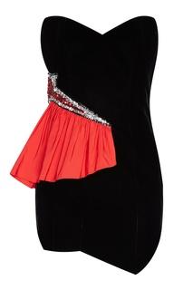 Коктейльное платье-мини с пайетками Alexandre Vauthier