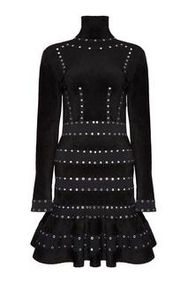 Платье с люверсами Alexander Mc Queen