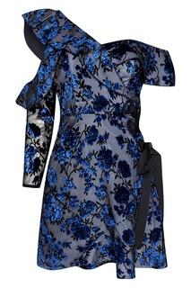 Платье из бархата-деворе Self Portrait
