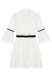 Белое кружевное платье Self Portrait