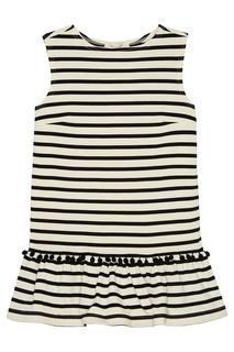 Хлопковое платье в полоску The Marc Jacobs