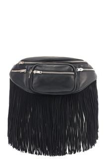 Черная поясная сумка с бахромой Alexander Wang