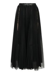 Черная плиссированная юбка-миди Ermanno Scervino