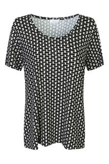 Черно-белая футболка с узором Marina Rinaldi