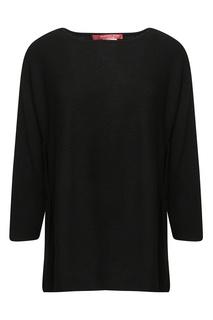 Черный джемпер с разрезами по бокам Marina Rinaldi