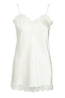 Белая блузка-комбинация с кружевом MAX & MOI