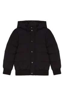 Черная куртка с капюшоном Msgm