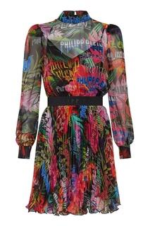 Разноцветное мини-платье Philipp Plein