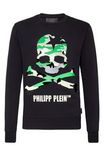 Черный свитшот с крупным черепом Philipp Plein