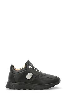 Черные кроссовки с контрастной шнуровкой Billionaire
