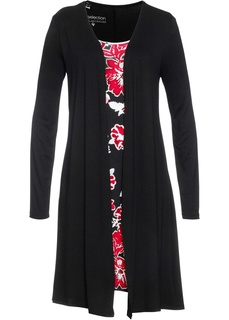 Короткие платья Платье 2 в 1 из трикотажа Bonprix