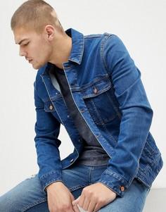 Облегающая джинсовая куртка ASOS DESIGN-Синий