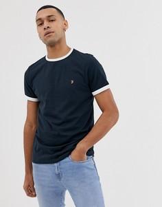 Темно-синяя облегающая футболка Farah Groves-Темно-синий