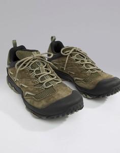 Фестивальные походные кроссовки оливкового цвета Merrell Chameleon 7 Limit-Зеленый