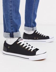 Черные кеды на шнуровке Dunlop-Черный