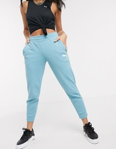 Синие спортивные штаны с логотипом Puma-Синий