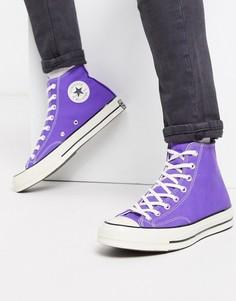 Фиолетовые кроссовки в стиле 70-х Converse - Chuck-Фиолетовый