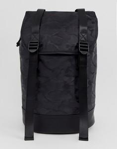 Черный рюкзак с камуфляжным принтом ASOS DESIGN