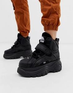 Черные высокие кроссовки на платформе Buffalo London-Черный