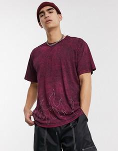 Красная футболка с эффектом кислотной стирки Milk It Vintage-Красный