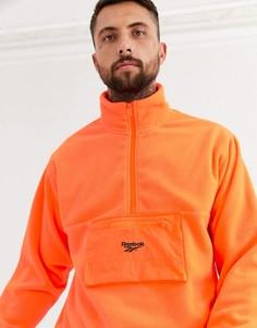 Оранжевая флисовая куртка Reebok-Оранжевый