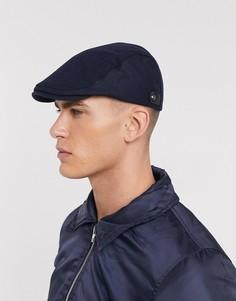 Темно-синяя плоская кепка Ted Baker-Темно-синий