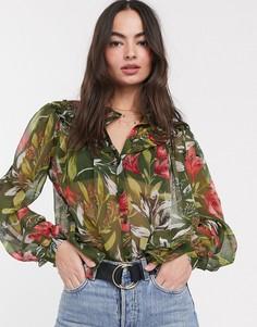 Блузка с принтом French Connection-Мульти