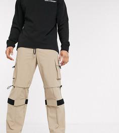 Нейлоновые брюки со вставками COLLUSION-Коричневый