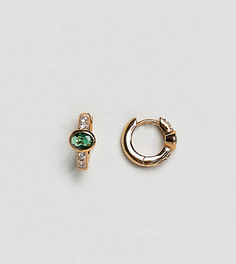 Позолоченные серьги-кольца с камнями Orelia-Золотой