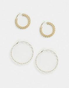 Серьги-кольца Pieces-Золотой