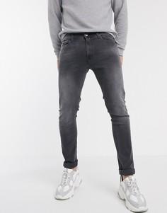Серые джинсы скинни Replay-Серый