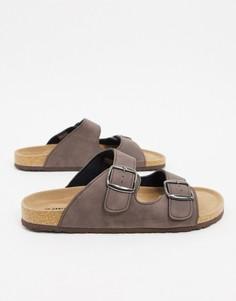Коричневые сандалии с пряжками Dunlop-Коричневый