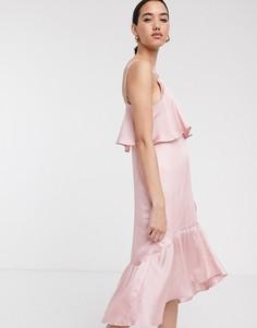 Платье миди Soaked In Luxury-Розовый