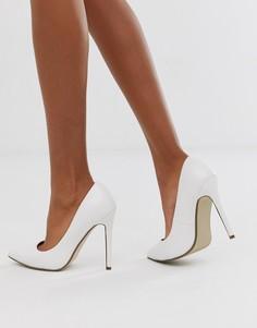 Белые туфли-лодочки Missguided-Белый