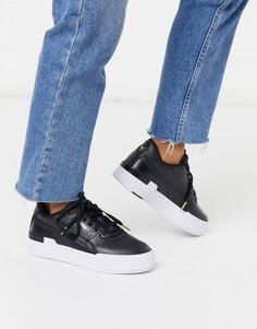 Черные кроссовки на массивной подошве Puma Cali Sport-Черный