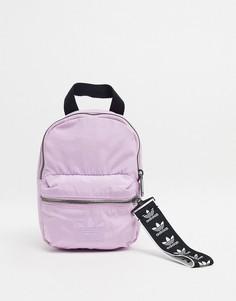 Мини-рюкзак лавандового цвета с логотипом-трилистником adidas Originals-Фиолетовый