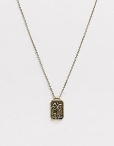 Золотистая цепочка с подвеской в форме пальмы Classics 77-Золотой