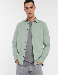 Светло-зеленая рубашка с карманом Nudie Jeans Co-Зеленый