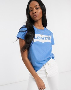 Футболка с логотипом Levis-Синий