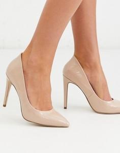 Туфли-лодочки с острым носком Miss KG-Бежевый