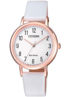Японские наручные женские часы Citizen EM0579-14A. Коллекция Eco-Drive
