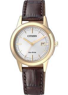 Японские наручные женские часы Citizen FE1083-02A. Коллекция Eco-Drive