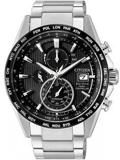 Японские наручные мужские часы Citizen AT8154-82E. Коллекция Radio-Controlled